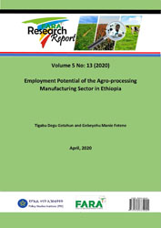 Employment Potential of the Agro-processing Manufacturing Sector in Ethiopia
